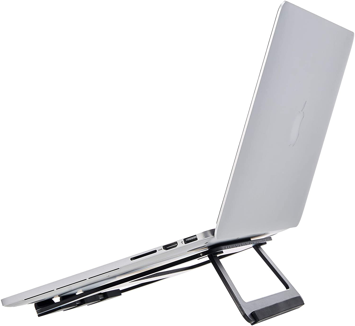 AmazonBasics Aluminum Portable Foldable Laptop Support Stand for Laptops up to 15 Inches, Black