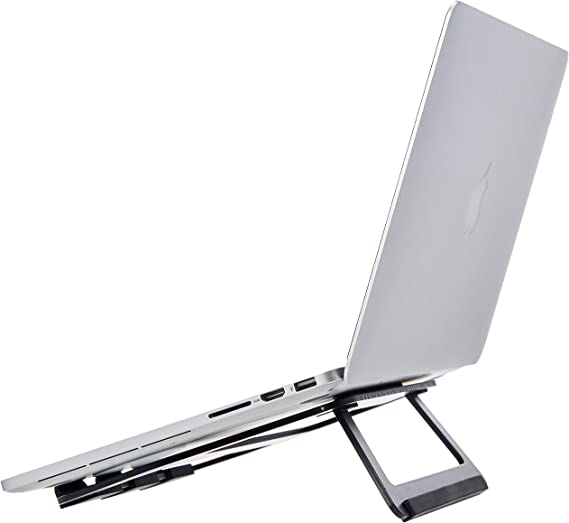 AmazonBasics Aluminum Portable Foldable Laptop Support Stand for Laptops up to 15 Inches