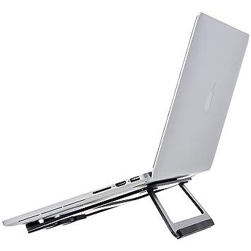 """AmazonBasics – Soporte plegable de aluminio para ordenador portátil de hasta 15"""", ..."""
