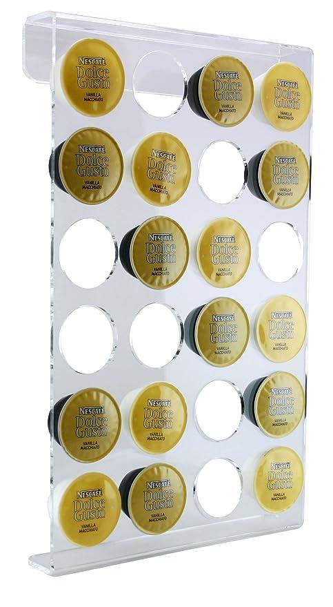 Diseño Cápsula Soporte de pared para 24 Cápsulas Dolce Gusto. Dispensador de cápsulas de alta