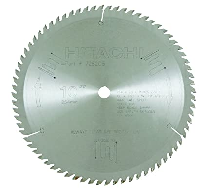 Hitachi 725206 72-Teeth Miter Saw Blade – Best 10-inch Miter Saw Blade