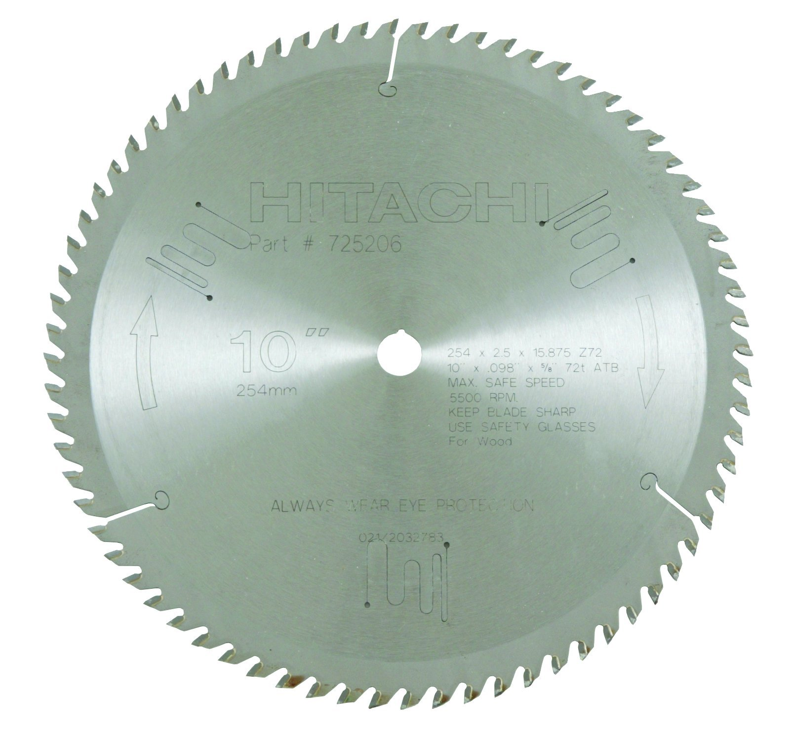 Best rated in miter saw blades helpful customer reviews amazon hitachi 725206 72 teeth tungsten carbide tipped 10 inch atb 58 greentooth Gallery