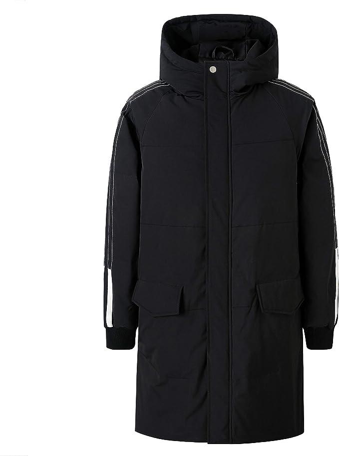 ZENTHACE Men's Long Down Coat Winter Warm Down Puffer Jacket