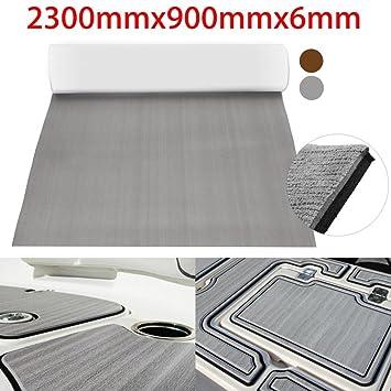 Very Pure Grey Selbstklebende EVA-Schaum Teak Spannbetttuch Dunkel OB21