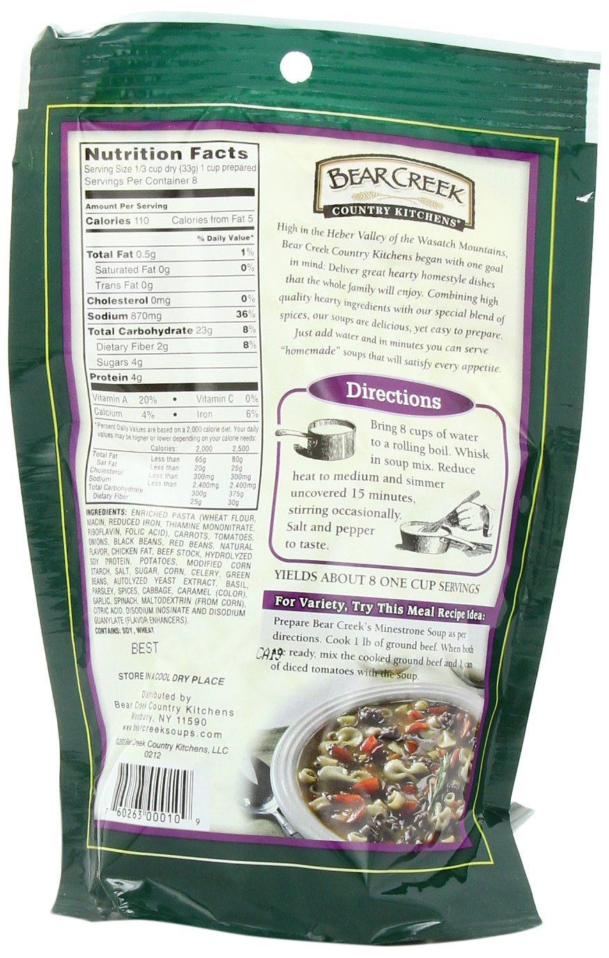 Amazon.com : Bear Creek Soup Mix, Minestrone, 9.3 Ounce (Pack of 6 ...