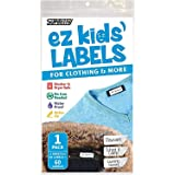 Ez Kids Clothing Labels Self-Stick No-Iron Write-On   Great for Children & Adults   Washer & Dryer Safe   School, Camp, Nursi