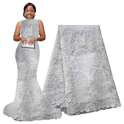 ef55076ee8b Amazon.com  pqdaysun 5 Yards African Lace Fabrics Nigerian French ...