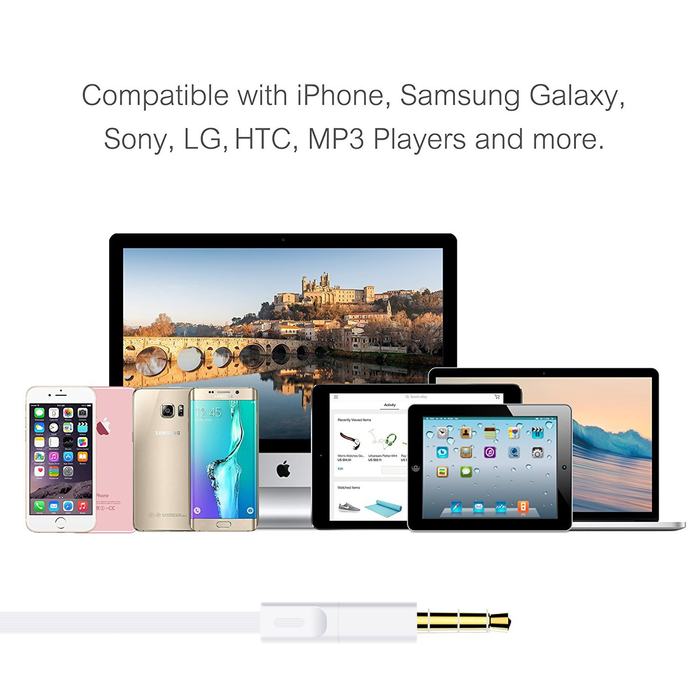 Halcent Auriculares con Cable, Auriculares Cancelacion Ruido Micrófono y Control de Volumen Auriculares In Ear para iPhone, Samsung, iPad, iPod, ...