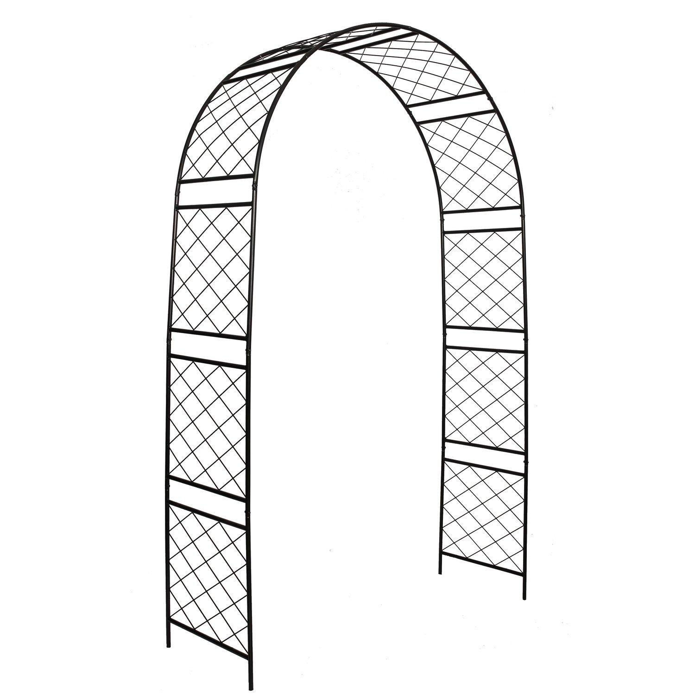 1. GO Steel Garden Arch, 7'10'' High x 4'7'' Wide, Garden Arbor for Various Climbing Plant, Outdoor Garden Lawn Backyard