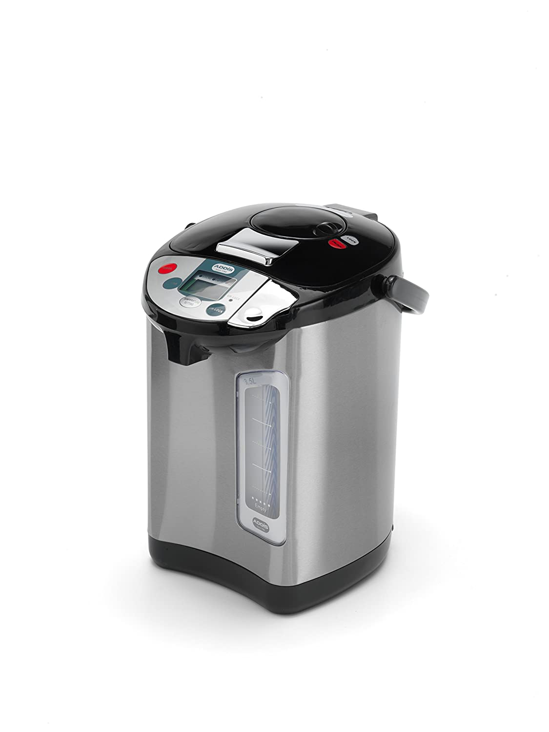 Addis Thermo Pot Instant Thermal Hot Water Boiler Dispenser, 3.5 liters, Stainless Steel/Black 128917