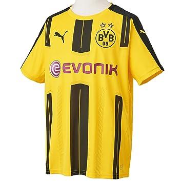 e7d939dc65795 Amazon.com   PUMA 2016-2017 Borussia Dortmund Home Football Soccer T ...