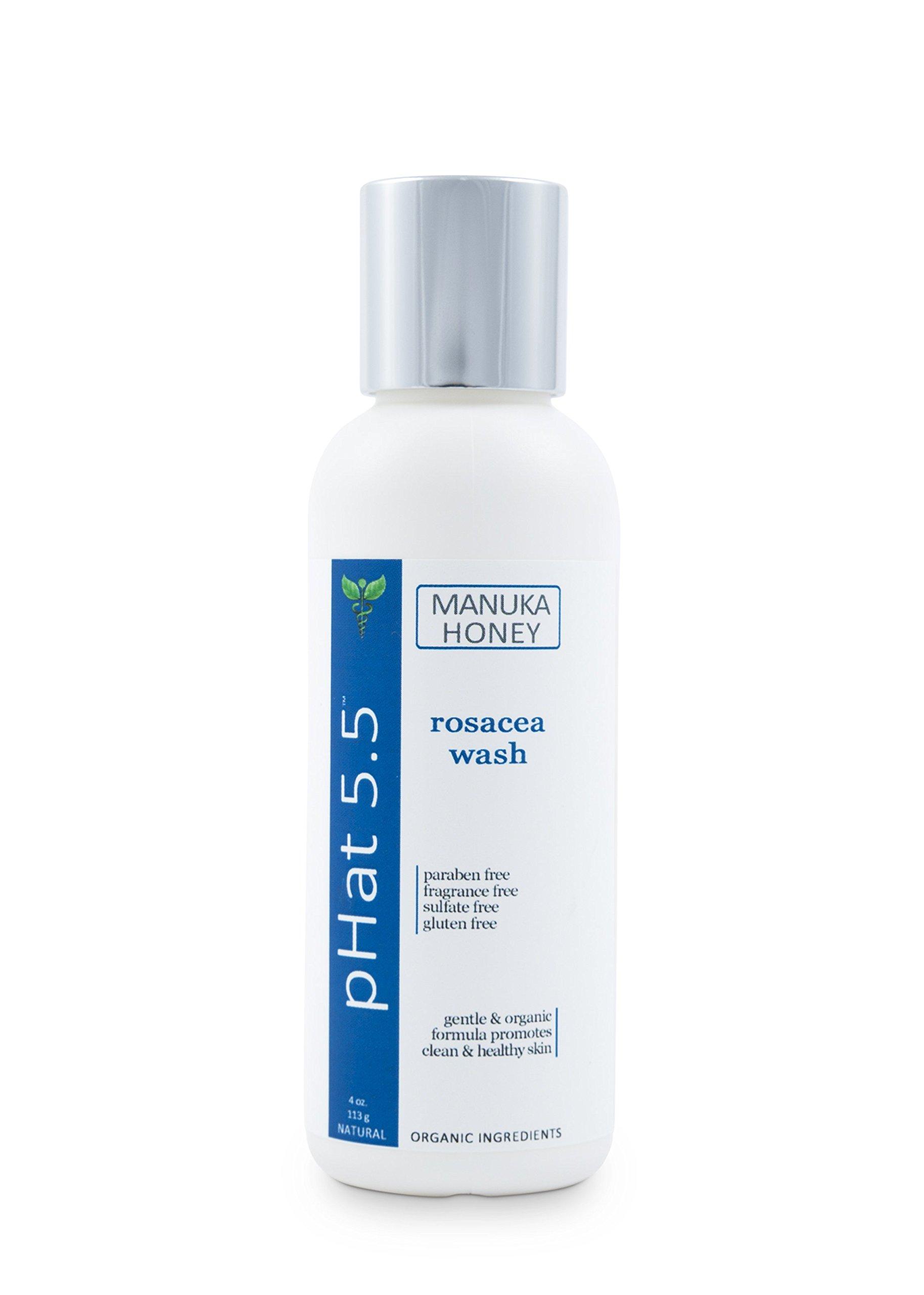 Moisturizing Rosacea Face & Body Wash for Sensitive Skin With Coconut Oil, Manuka Honey and