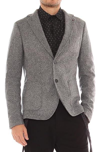 rivenditore di vendita 13cce 88001 AltaTensione Giacca slim in lana cotta melange: Amazon.it ...