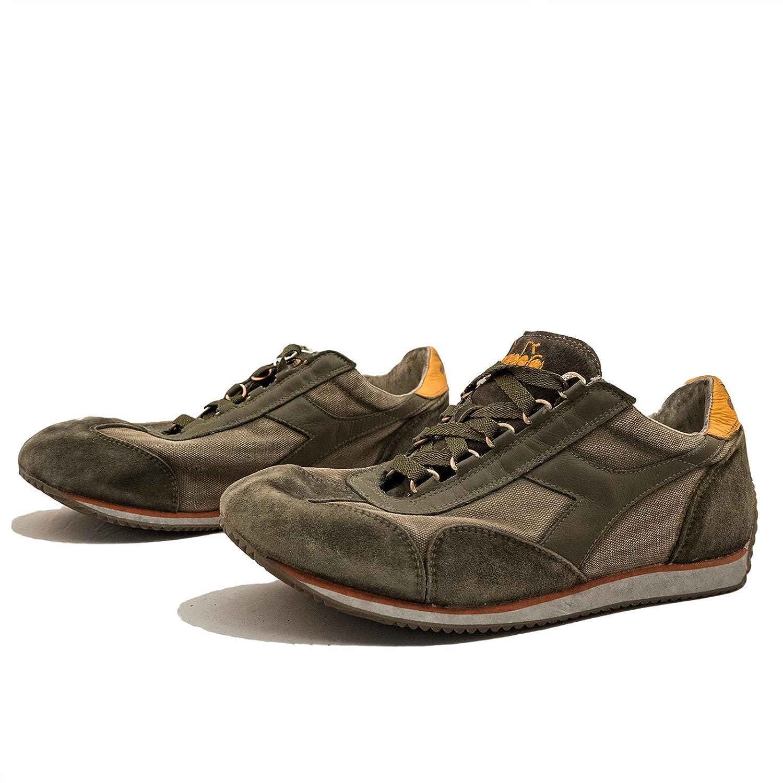 Diadora Heritage Uomo, Equipe SW Dirty 11 Fossil, Suede/Tessuto, Sneakers, Verde, 41 EU