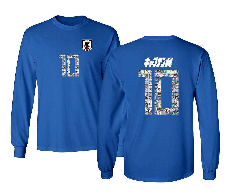 66db49df458 Amazon.com: Tcamp Japan Novelty Captain Nankatsu Tsubasa 2018 World Soccer  Championship Men's Long Sleeve T-Shirt: Sports & Outdoors