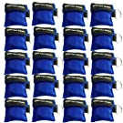 Pack of 20pcs CPR Mask Keychain Ring Emergency Kit Rescue Face Shields with One-way Valve Breathing Barrier for First Aid or AED Training, Easy to Carry (Blue-20)