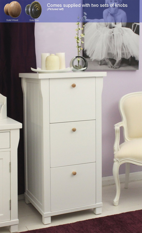 Solid Wood Baumhaus Hampton Filing Cabinet Three Drawer