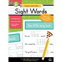 Carson Dellosa Trace With Me: Sight Words Handwriting Workbook—PreK-Grade 2 Writing Practice, Tracing Letters of the…