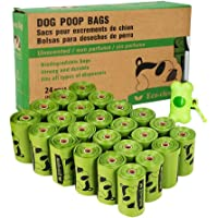ECO-CLEAN Poop Bags Biodegradable, 24 Rolls/360 Bags with Dispenser, Dog Waste Bags,…