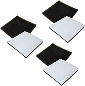 HQRP 6-Pack Foam Filter for Kenmore 116.21714/21714, 116.21514/21514, 116.21614/21614, 116.23613/23613 Canister Vacuum