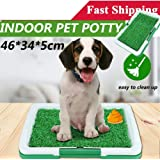 Puppy Pets Empire Pet Potty Training Pee Indoor Home Dog Grass Pad Mat Mesh+Collection Tray