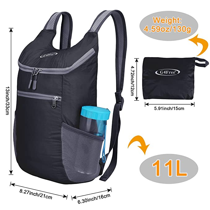 G4Free Unisex Ultra Lightweight Small Foldable Backpack Packable Rucksack  for Travelling Walking Cycling Hiking or Multipurpose Daypacks   Amazon.co.uk  ... 9aad93c2c0f62