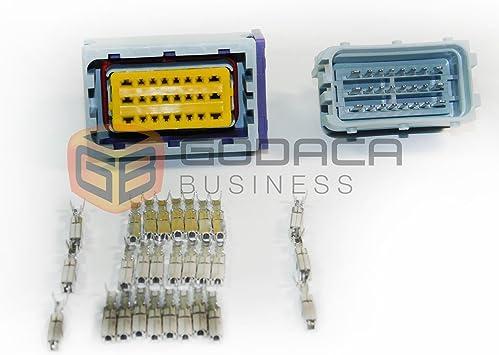 Amazon.com: 1x 24-pin ECU Repair Connector Male & Female Plug Pigtail harness  Repair Wiring: AutomotiveAmazon.com
