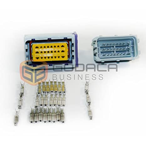 amazon com 1x 24 pin ecu repair connector male \u0026 female plugAutomotive Repair Wiring Harness Pins #1