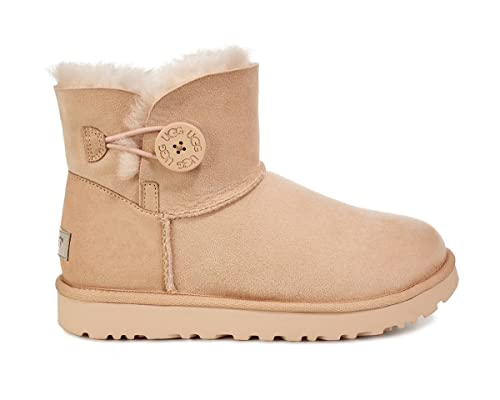 0b48480f3556 UGG Womens Mini Bailey Button II Amberlight 11 B - Medium