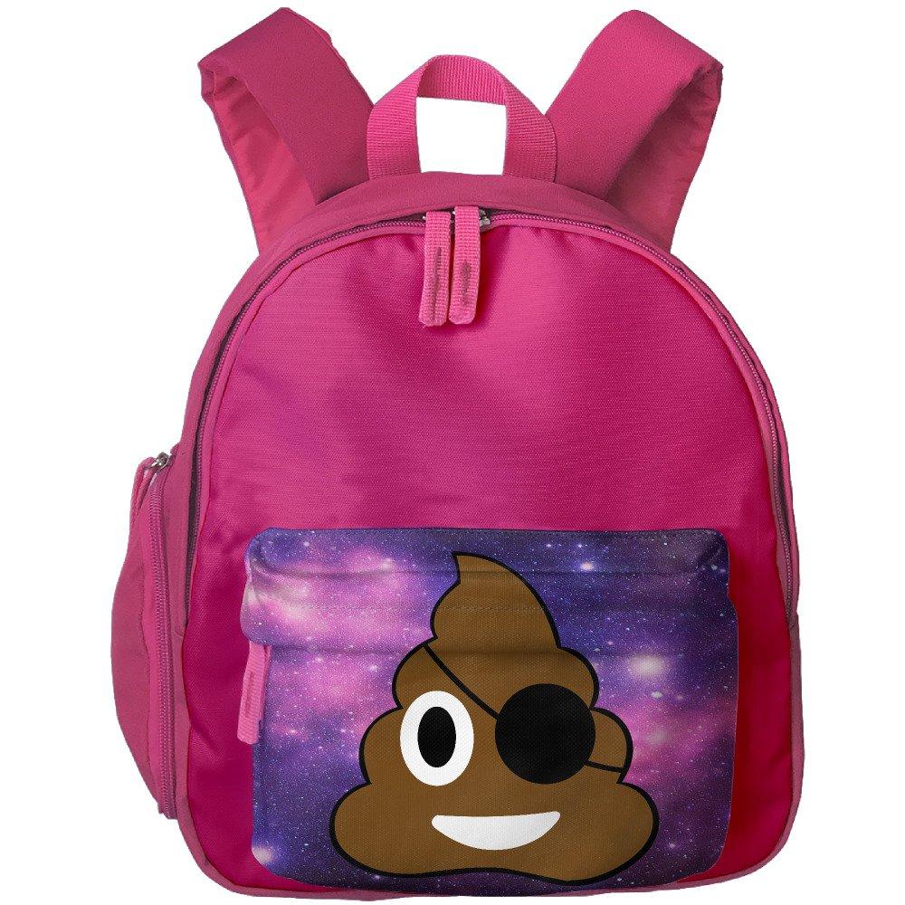 Pirate Poop Cute Emoji Poop Toddler Kids Backpack Preschool Backpack Pink Mini Backpack by Vorav