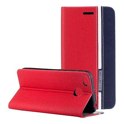 Funda Xiaomi Redmi 4X ,Carcasas Xiaomi 4X piel Funda con Tapa Rosa Schleife® Redmi 4X Carcasa Cuero Funda Protectora Case Cover Slim Folio Cartera ...
