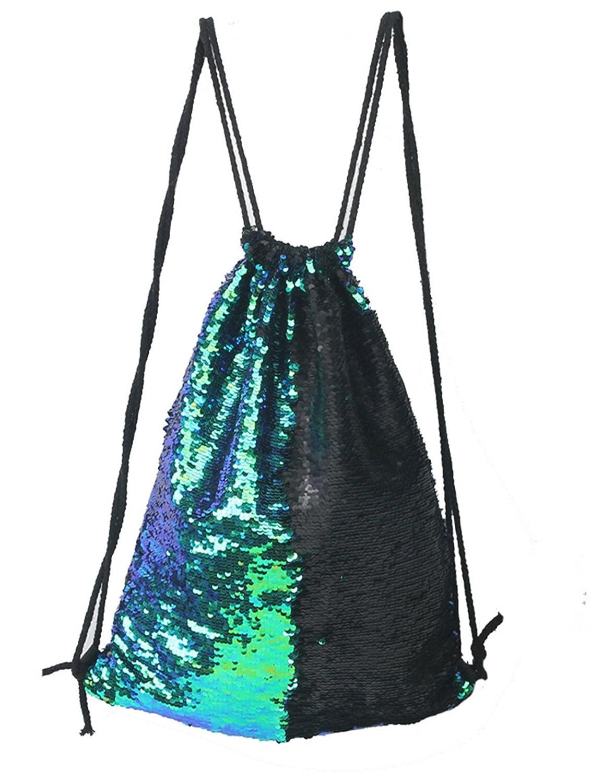 Smilecoco Mermaid Sequin Backpack Glittering Outdoor Shoulder Bag