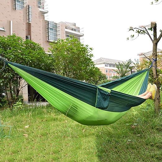 NHGFP Ultraligero Hamaca para Acampar al Aire Libre Sueño Columpio Cama de árbol Jardín Patio Trasero Transpirable Hamaca portátil de Secado rápido-5 5: Amazon.es: Jardín