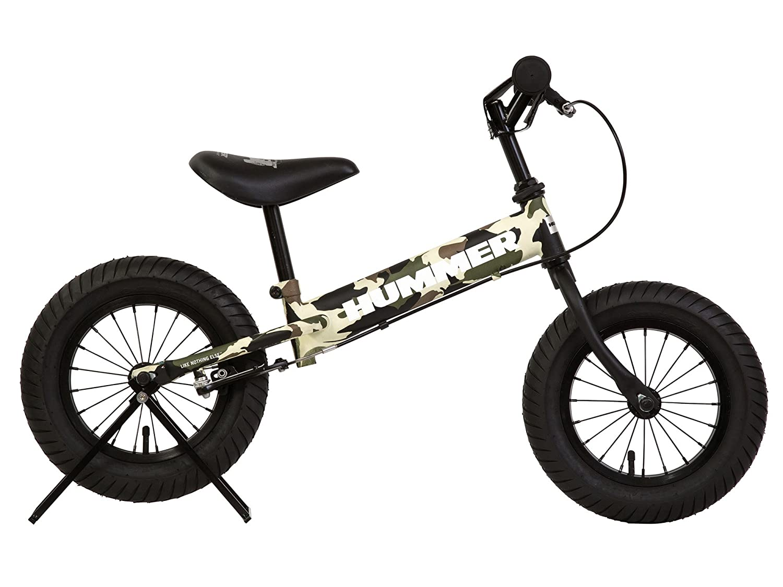 HUMMER(ハマー) TRAINEE BIKE 12.5インチ 幼児/子供用トレーニングキックバイク 【専用スタンド付き】 安定のある極太タイヤ搭載 後輪ブレーキ付 13028 B01LL0UB2Eカモフラージュグリーン