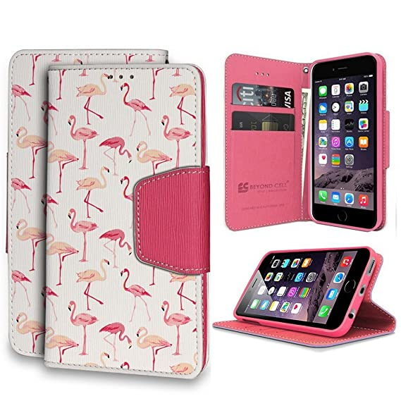 best cheap b9332 8a634 Infolio Wallet Case For Apple iPhone 6S 6 4.7 PU Leather TPU Case Card Slot  Bill Fold Magnetic Flap Kickstand White Pink Leather Pink TPU Flamingo