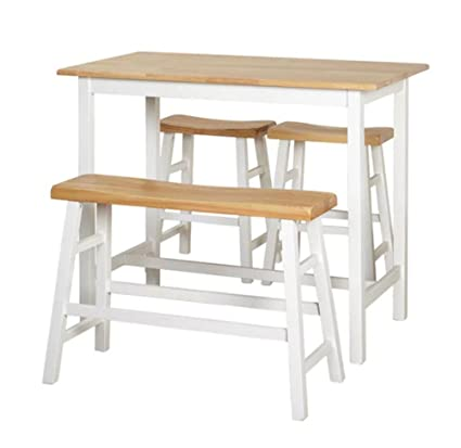 Outstanding Amazon Com Pub Table Set 4 Piece Counter Height Dining Home Interior And Landscaping Dextoversignezvosmurscom