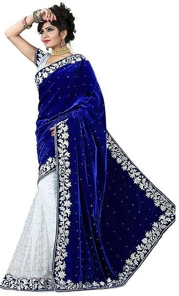 dc15c94bda Royal Ethnic Wear Designer Indian Bollywood Partywear Saree Blue sari:  Amazon.ca: Clothing & Accessories