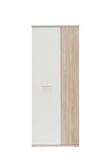NEWFACE Net106 Mehrzweckschrank, Holz, sonoma eiche + weiß, 68.90 x ...