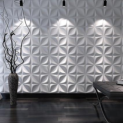 Art3d decorative 3d wall panels cornus angustata design pack of 12 tiles 32 sq ft
