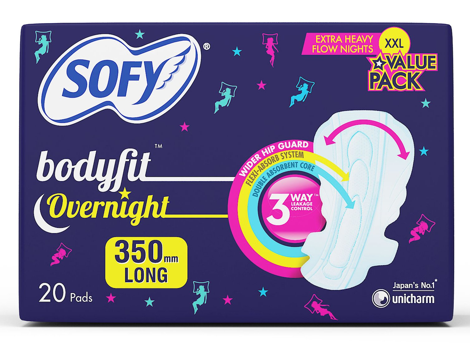 Sofy Anti Bacteria Overnight - XXL (20 Pieces) product image