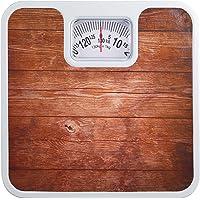ATOM AL900 Analog Mechanical Personal Bathroom Weighing Scale Capacity upto 130 kg - Wood