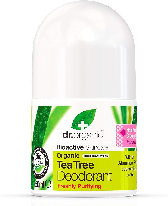 Dr. Organic Desodorante Arbol Del Te Organico 50Ml 1 Unidad 500 g