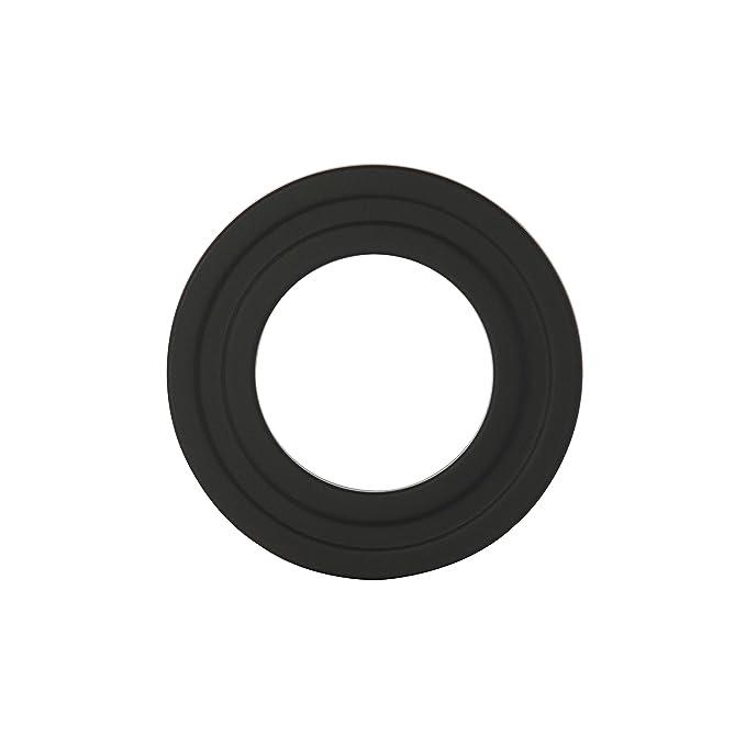 Kamino - Flam - Rosetón para tubo de chimenea, Acero rosetón conector para sistema de chimeneas, estufas, ventilaciones, Negro, Ø 100 mm: Amazon.es: ...