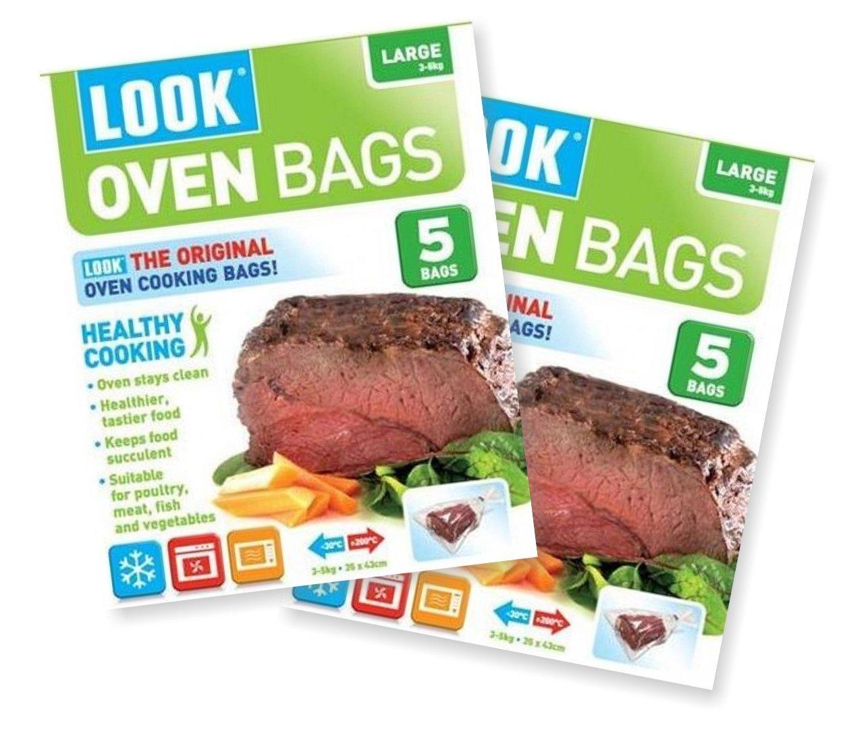 Look Oven bags - Bolsas para cocinar en el horno, tamaño grande ...