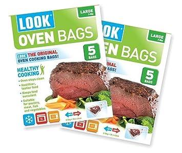 Amazon.com: Look – Bolsas para cocinar en el horno (Tamaño ...