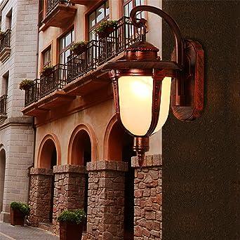 liyan minimalista lámpara de pared Aplique E26/E27 Retro exterior de pared Luces LED Impermeable exterior creativos Terraza Balcón Jardín Villa en la escalera.: Amazon.es: Iluminación