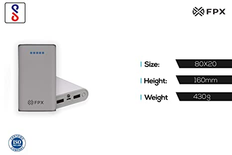 FoxProx FX 104 10 10400mAH Lithium Ion Power Bank  White