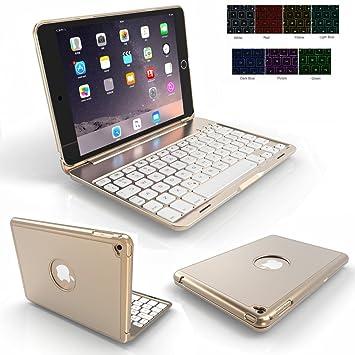 Bluetooth teclado Funda para iPad Mini 4, genjia Premium ...