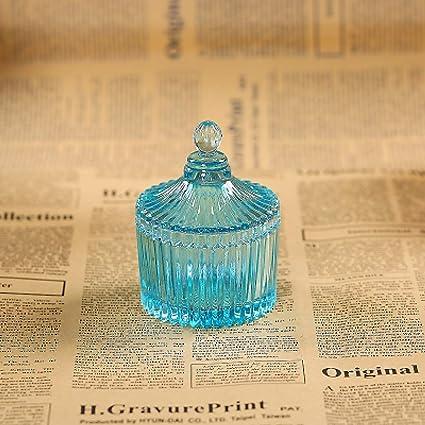 JYYC Vidrio Creativo Caja de joyería Transparente Caja de Dulces de Boda Almacenamiento Anillo de Boda