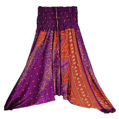 d24b71d454 Ladies Comfy Yoga Beach Baggy Gypsy Women Harem Pants Trousers Indian